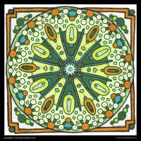 A Little Green Rosetta Mandala II by Quaddles-Roost