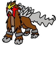 Entei rawr by sparkIedog
