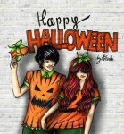 Ariel and Eric for HALLOWEEN CONTEST 2014 by AkaAmamura20