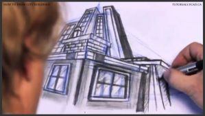 Learn how to draw city buildings 036 by drawingcourse
