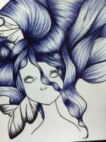 Absinthe pen drawing by AmyLou31