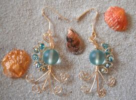 Tidal Twist Earrings by Libbyscreations