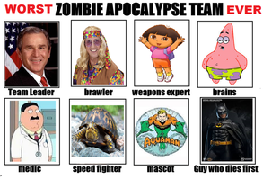 (Wosrt) Zombie Apocolypse Team (Ever) by OcarinaGreen