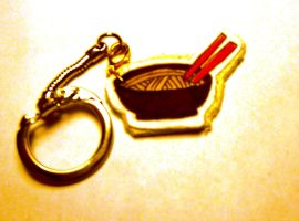 Noodle Soup Keychain by idont0know