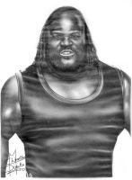 WWE Mark Henry Pencil Drawing by Chirantha
