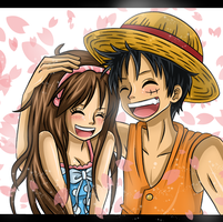 AT - Luffy and Sachiya by knilzy95