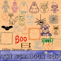 Spoooky Brushes by ScrappinCop by debh945