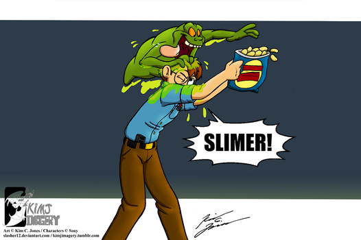 Louis and Slimer by Slasher12