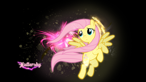 Fluttershy wallpaper by Chromiapegasus