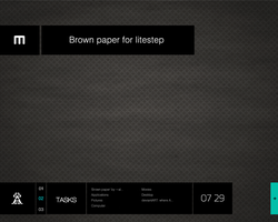 Brown paper for litestep by alexstress