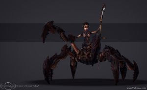 Spider Queen REAL-TIME Model 2 by vickgaza
