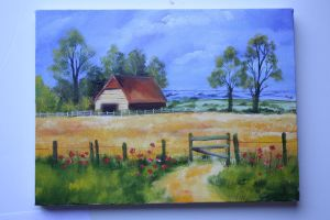 Landscape oil painting by Auzureii