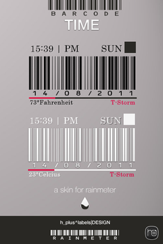 BarCode_TIME rainmeter by hpluslabels