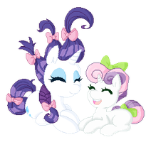 Rarity and Sweetie Belle by IFuckingHateDallas