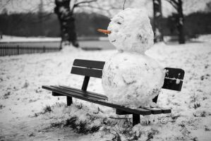 The Happy Snowman by mx