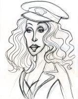 Cher in Burlesque by Caricature80