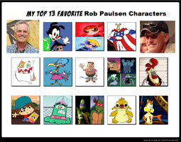 My Top 13 Favorite Rob Paulsen Characters by cartoonfanboyone