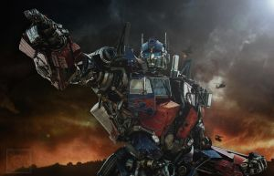 We will take the Battle to them - Optimus Prime by Lady-Elita-1