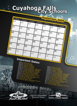 Newspaper Calender Layout by JustMarDesign