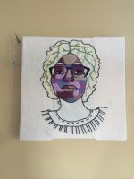 Embroidered portrait if my friend by kas107