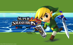 Toon Link Wallpaper - Super Smash Bros. Wii U/3DS by AlexTHF
