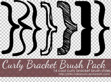Curly Brackets - Brush Pack by Shiro-Takamura
