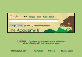 The Academy Is Startpage by AwesomeStart