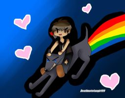 Daryl riding a chupacabra by deathnotefangirl99