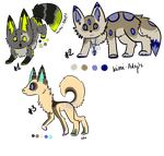 [Wolf] .: 30 points Adopt :. 2 and 3 available by Kimi-Adopts