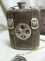 CRM steampunk flask by Justenjoyinglife