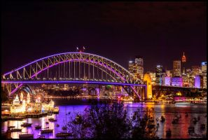 Sydney Harbour Bridge - Vivid Festival by Kalmatron