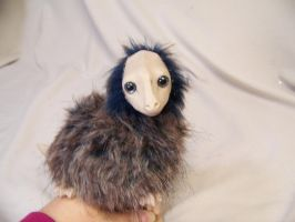 Baby dragon puppet new face by AmandaKathryn