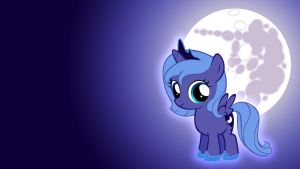 Filly Luna Wallpaper (old) by Pappkarton