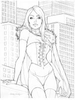 Emma Frost pencil by Little-Ginkgo