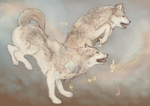 Wolf Concept Doodle I by White-Tean