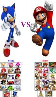 Sonic VS Mario by LionelB