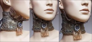 English rose choker by Pinkabsinthe