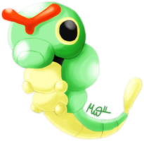 Caterpie by Metterschlingel