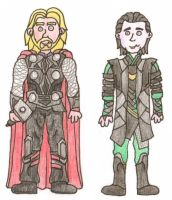 Thor and Loki by swfan444