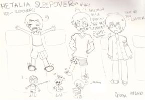 Hetalia Sleep Over by Mina-Chu