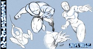Foreshortening Sketch Sheet by RAM by robertmarzullo