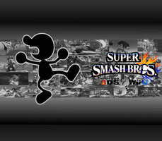 Mr. Game and Watch Wallpaper by CrossoverGamer
