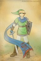 Hyrule Warriors Link by Alamino