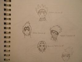Team Kakashi by Mosspetal
