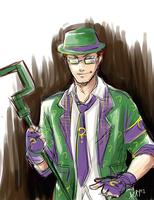 Sketchy Riddler by Meinarch