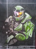 Master Chief : Halo Combat Evolved by AlexFentonDesigns