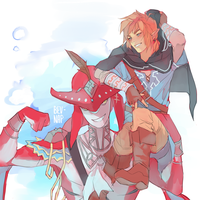 Prince Sidon and Link by Bev-Nap