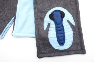 Trilobite Fleece Scarf by Paleogirl