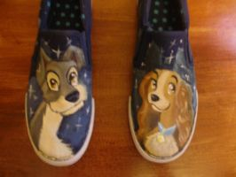 Lady and the Tramp Shoes by BlackRozePetal