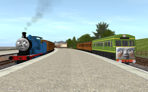 NWR No. 2 and D1 at Knapford Junction by Sergeant-Sunflower
